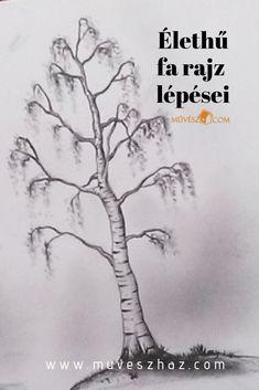 Tájkép rajz tippek: Mitől lesz igazán élethű egy fa rajz? Kattints és olvasd el! Pencil Drawings, Art Drawings, Beginner Painting, Kids And Parenting, Mandala, Comics, Artist, Artwork, Tattoo