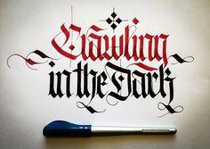 calligraphy fraktur lettering