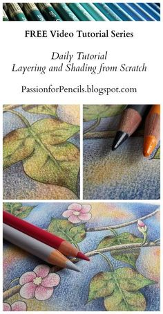 Watch the FREE Daily Tutorial Videos to learn more. Watch the FREE Daily Tutorial Videos to learn more about layering, blending, shading, and adding detail to your drawings and colouring pages! Pencil Drawing Tutorials, Art Tutorials, Pencil Drawings, Pencil Sketching, Art Drawings, Rose Drawings, Pencil Shading, Drawing Art, Colored Pencil Tutorial