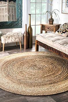 nuLOOM Natural Hand Woven Rigo Jute rug Round, 6' nuLOOM https://smile.amazon.com/dp/B00A7WZZ4M/ref=cm_sw_r_pi_dp_x_vJO7zb48TGYCA