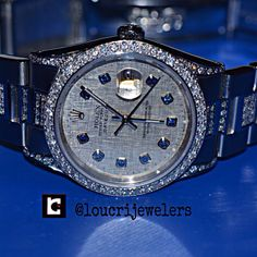 Rolex Datejust Oyster Perpetual Diamond Watch!!Meteorite Dial With Sapphire  Crystals Diamonds  On The Entire Bracelet!! Contact Loucri Jewelers for this and other Luxury Time pieces. Email  sales@loucri.com or call ☎️☎️ 516 960 7757.