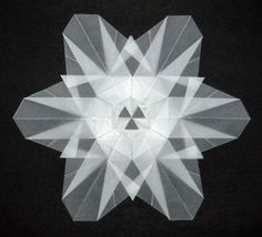 December ~ Advent ~ Week One: The Light of Crystal & Stone ~ Snowflake Origami