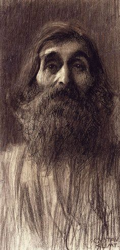 G. KLIMT. Portrait Of A Bearded Man