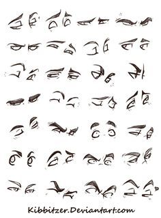 Anatomy Drawing Eyes Reference Sheet by Kibbitzer - Realistic Eye Drawing, Drawing Eyes, Anatomy Drawing, Manga Drawing, Drawing Sketches, Figure Drawing, Drawing Feelings, Drawing Hair, Drawing Reference Poses