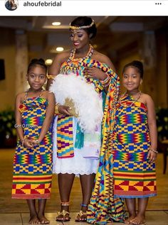 Latest Kente Designs That Will Make You Fall in Love - Afro Fahionista African Dresses For Kids, Latest African Fashion Dresses, African Print Fashion, African Clothes, African Wedding Attire, African Attire, African Wear, African Theme, Ghana Traditional Wedding