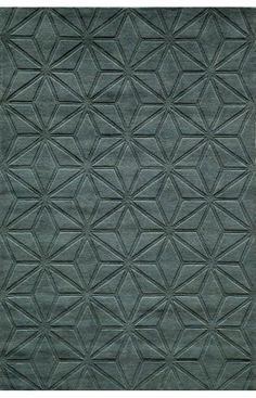 Momeni Patterned Rug (Blue) This richly hued open-backed hand-loomed rug will add visual interest and texture to any space RugHome Wool Carpet, Diy Carpet, Modern Carpet, Rugs On Carpet, Blue Carpet, Stair Carpet, Textured Carpet, Patterned Carpet, Patterned Wall