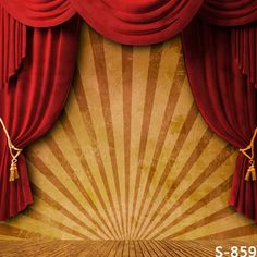 10x10FT Circus Stripes Tent Red Curtain Drape Stage Portrait Custom Photography Backdrops Studio Backgrounds Vinyl 8x8 8x10