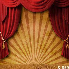 10x10ft サーカス ストライプ テント赤カーテン ドレープ ステージ肖像カスタム写真撮影の背景スタジオ背景ビニール 8 × 8 8 × 10