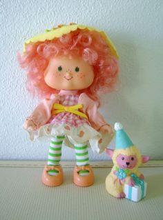 Vtg Strawberry Shortcake Peach Blush Party Pleaser w/ Melonie Belle ...