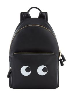 Eyes Right Mini Black Back Pack - Anya Hindmarch Resort 2016 - Preorder now on Moda Operandi