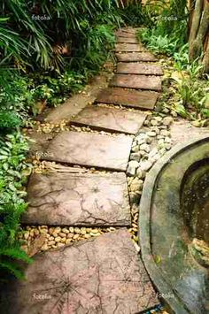 ~How to make Square Leaf imprint concrete pavers~  http://www.ehow.com/how_12208374_make-pavers-leaves.html