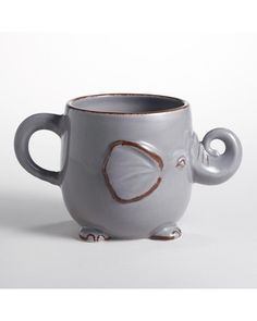 Mornings are better with an elephant mug! Get it here: http://www.bhg.com/shop/world-market-gray-elephant-mug-p509cd0dbe4b0a57d1880eb88.html?mz=a