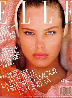Renee Simonsen for ELLE France by Gilles Bensimon 1990s Supermodels, Original Supermodels, 1987 Fashion, Fashion Models, Fashion Magazine Cover, Magazine Covers, Renee Simonsen, Elle Spain, Daily Beauty