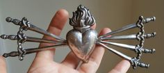 Large Antique French Silver Our Lady of by PinyolBoiVintage