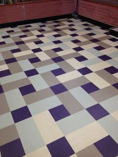 nice 16 Stunning Tile Ideas For Your Home Vct Flooring, Vct Tile, Hall Flooring, Kitchen Flooring, Flooring Ideas, Floor Patterns, Tile Patterns, Floor Design, Tile Design