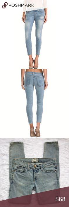 """{current/elliott} the stiletto in clear water A distinct blue wash, expert fading, and faint distressing on the edges add a lived-in look while stretch-cotton adds curve-hugging comfort to this pair of ultra-skinny jeans in a perfect ankle length.  ᴇxᴄᴇʟʟᴇɴᴛ ɢᴇɴᴛʟʏ ʟᴏᴠᴇᴅ ᴄᴏɴᴅɪᴛɪᴏɴ • ɴᴏ sɪɢɴs ᴏғ ᴡᴇᴀʀ ᴡᴀsʜ • ᴄʟᴇᴀʀ ᴡᴀᴛᴇʀ  ᴍᴀᴛᴇʀɪᴀʟs • 92% ᴄᴏᴛᴛᴏɴ, 7% ᴘᴏʟʏ, 1% ᴇʟᴀsᴛᴀɴᴇ ᴍsʀᴘ • $218 sᴛʏʟᴇ • 1280-0632  ᴍᴇᴀsᴜʀᴇᴍᴇɴᴛs :: ғʟᴀᴛ ᴡᴀɪsᴛ: 13.75"""" ɪɴsᴇᴀᴍ: 28"""" ʀɪsᴇ: 8"""" ʟᴇɢ ᴏᴘᴇɴɪɴɢ: 4.5"""" Current/Elliott Jeans…"""