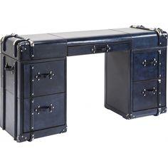 Bureau Vintage Nautica bleu 5 tiroirs Kare Design