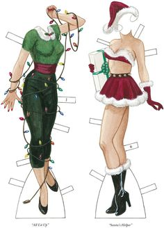Naughty Girls Paper Dolls 3 of 6 Paper Doll Costume, Paper Doll Craft, Doll Crafts, Paper Toys, Paper Crafts, Dover Publications, Vintage Paper Dolls, Christmas Paper, Printable Paper
