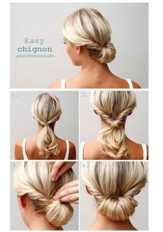 "Easy instructions on how to create this hairstyle - the ""chignon"""