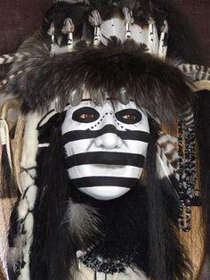The Medicine Man II Native American Style Spirit Mask by Cindy Jo Popejoy - Native American Images, Native American Regalia, American Indian Art, Native American Fashion, Native American History, American Indians, Native Indian, Native Art, Dog Soldiers