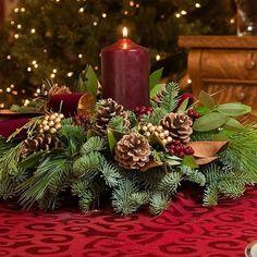 Christmas Centerpieces for the Holidays Cranberry Centerpiece, Holiday Centerpieces, Xmas Decorations, Artificial Floral Arrangements, Flower Arrangements, Christmas Home, Christmas Wreaths, Nautical Centerpiece, Advent