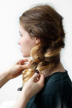 Textured side braid tutorial