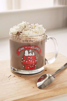 Snoopy Glass Holiday Mug - Urban Outfitters