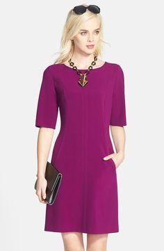 Seamed A-Line Dress (Regular & Petite)