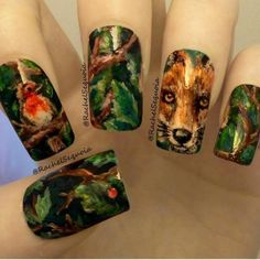 fox by rachelsequoia #nail #nails #nailart