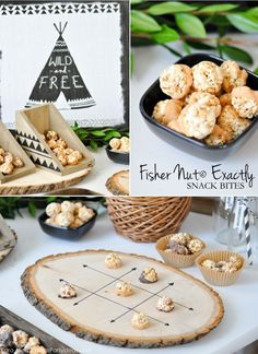 Fisher Nut Exactly Snack Bites + Woodland Camping Birthday Party Ideas via Kara Allen | KarasPartyIdeas.com #FisherNutExactly