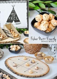 Fisher Nut Exactly Snack Bites + Woodland Camping Birthday Party Ideas via Kara Allen | KarasPartyIdeas.com #FisherNutExactly