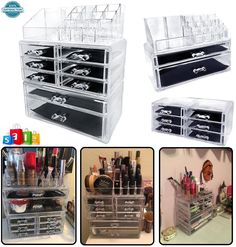 Beautify Extra Large 5 Tier Clear Acrylic Cosmetic Makeup Cube Organizer Storage #Sodynee
