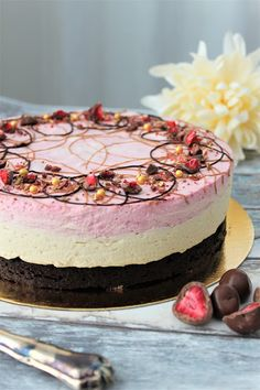 Sweet Desserts, Delicious Desserts, Baking Recipes, Cake Recipes, Raw Cake, Mousse, Sweet Pastries, Specialty Cakes, Piece Of Cakes