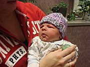 "Radio Iowa story ""Purple caps raise awareness of program to reduce Shaken Baby Syndrome"""