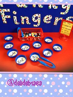 Doubling activity for Funky Fingers table Maths Eyfs, Eyfs Activities, Preschool Math, Kindergarten Math, Numeracy, Nursery Activities, Year 1 Classroom, Eyfs Classroom, Early Years Maths