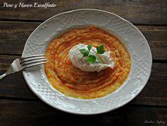 Puré de Patata y Zanahoria con Huevo Escalfado