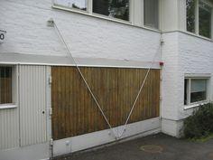 Detail: garage door mechanism at Alvar Aalto's studio in Helsinki, Finland, Arched Doors, Alvar Aalto, Helsinki, Finland, Gates, Entrance, Garage Doors, Studio, Architecture