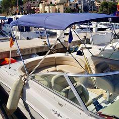 Embarcación de recreo Sea Ray 260 con Toldo Bimini Carvid Marine 4 Arcos Aluminio. Disponible en nuestra web: www.carvidmarine.com Car, Frosting, Boats, Stainless Steel, Budget, Automobile, Vehicles, Cars, Autos