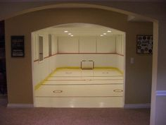 Synthetic Ice Hockey Rink that Finished Basements Plus. Built in a Basement