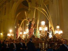Traslado del paso de La Entrada de Jesús en Jerusalén al Pilar. (75 aniversario)