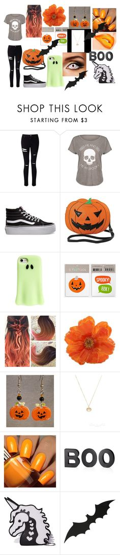 """""""Spoopy Holiday"""" by maddielion2 ❤ liked on Polyvore featuring Miss Selfridge, LC Trendz, Vans, Sleepyville Critters, STELLA McCARTNEY, NOVICA, Floss Gloss, Crate and Barrel, Sugar Thrillz and holiday"""