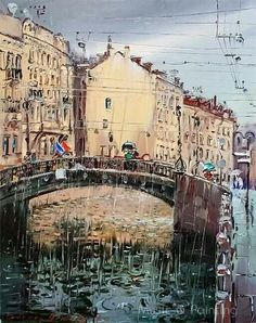 St. Petersburg by Sergey Demidenko__Сергей Демиденко. Мокрый город