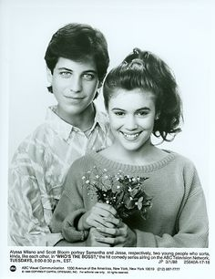 Scott Bloom and Alyssa Milano in Who's The Boss? 1988