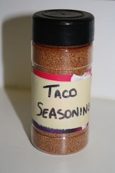 This is by far THE best Taco Seasoning ever! You probably already have the ingredients. and the best part is that you actually know & can pronounce every single ingredient in it (unlike the seasonings in the store. Homemade Spices, Homemade Taco Seasoning, Homemade Tacos, Seasoning Mixes, Seasoning Recipe, Do It Yourself Food, Spice Mixes, Spice Blends, Fodmap