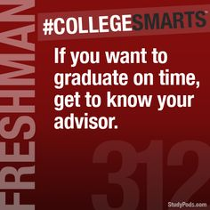 Get to know your advisor so you can have a great graduation plan!   #CollegeSmarts #TTUAdvising