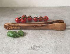 Olive Wood Tongs for Salad BBQ Tongs  Rustic by muzimuzistore