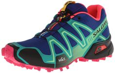 Love these trail runners. First time ever that I had to watch a YouTube video to figure out how to tie a shoe! Salomon Women's Speed Cross 3 W Trail Running Shoe,Blue/Emerald Green/Hot Pink,9.5 M US