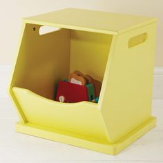Single Stacking Storage Trunk   Yellow   New In   Toy Storage