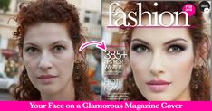 Your Face on a Glamorous Magazine Cover In Seconds! Application Facebook, Makeup Application, Facebook Image, For Facebook, Online Fun, Framing Photography, Glamour, Camera Hacks, Summer Beauty