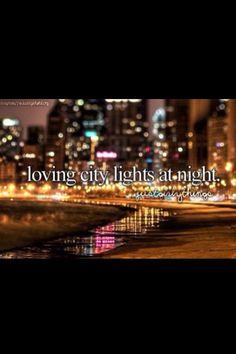 Loving City Lights at Night